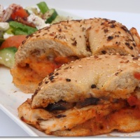 Chicken Bagel Sandwich