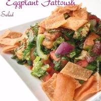 Eggplant Fattoush Salad