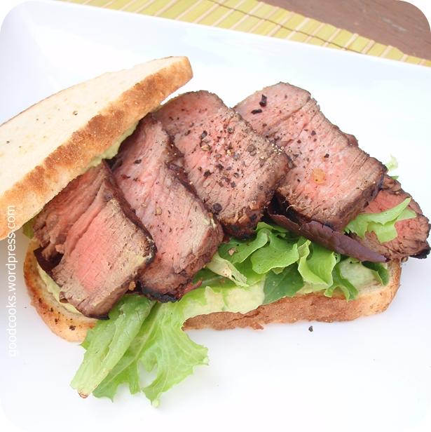 Steak Sandwich with Avocado Mayo Spread | Good Cooks