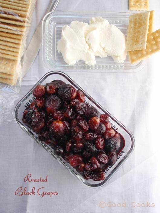 Roasted Black Grapes